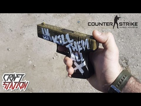 How to make Glock 18 Wasteland Rebel from CS:GO DIY Free templates