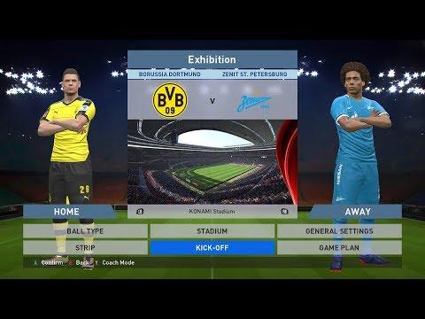 Borussia Dortmund vs Zenit ST. Petersburg, Signal Iduna Park, PES 2016, PRO EVOLUTION SOCCER 2016