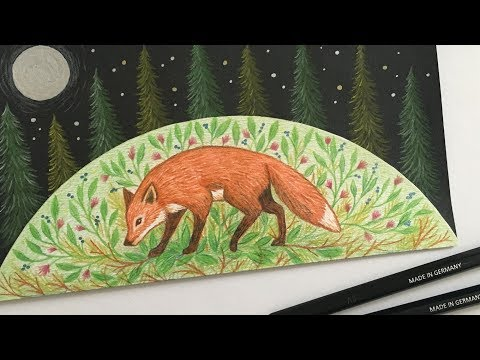 Drawing fox on black and white paper ▪ DIY Tutorial | STAEDTLER thumbnail