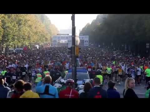 Berlin Marathon 2014 (Start & 35 Km  und Ziel) Weltrekord