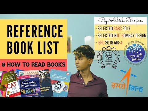 Reference Book List & How To Read Books For GATE, ESE, ISRO & BARC