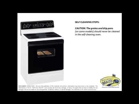 GE SELF CLEANING OVEN TIP