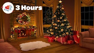 Gambar cover 3 Hours Relaxing Christmas Fireplace Christmas Songs and Carols Long Playlist