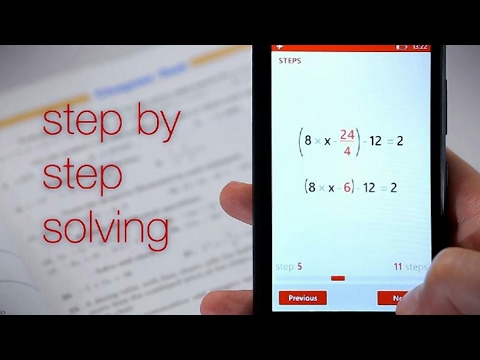 How to get solution of any math problem through a free playstore app - photomath