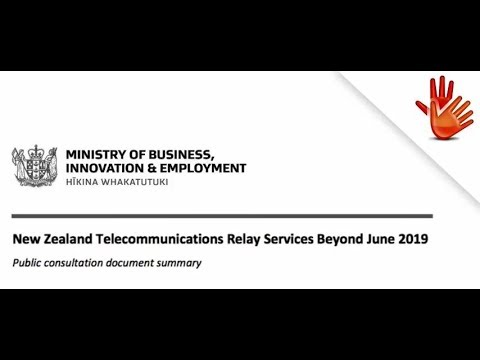 NZ Telecommunications Relay Services Beyond June 2019