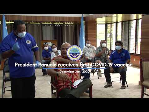 President Panuelo Takes the COVID-19 Vaccine