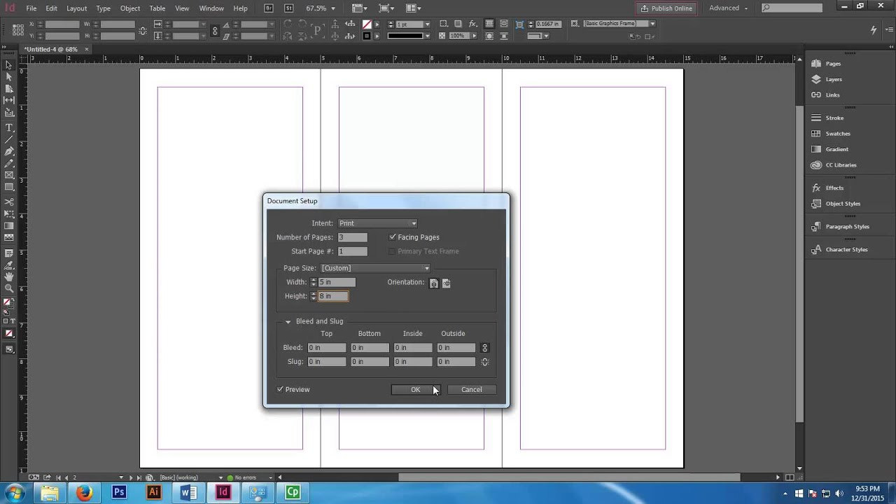 Adobe Indesign Book Cover Tutorial : Creating a book cover jacket on adobe indesign youtube