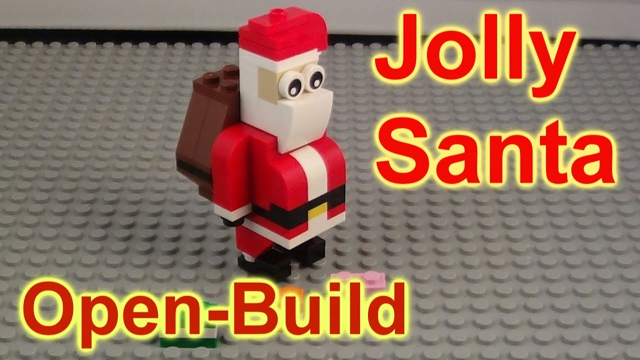 My Lego Christmas Card To Everyone 30478 Jolly Santa Open and Build ...