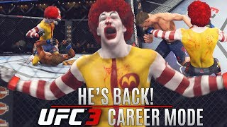 Ronald McDonald Has Returned To The UFC! Still Dangerous! EA Sports UFC 3 Career Mode Gameplay