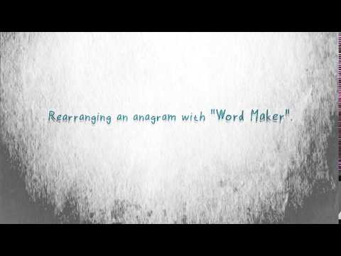 Anagram finder and word maker