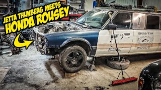 Bolting A Crazy Fast Jetta DIESEL Engine Into A Honda Accord STRETCH LIMOUSINE (NOT BOLT-ON!)