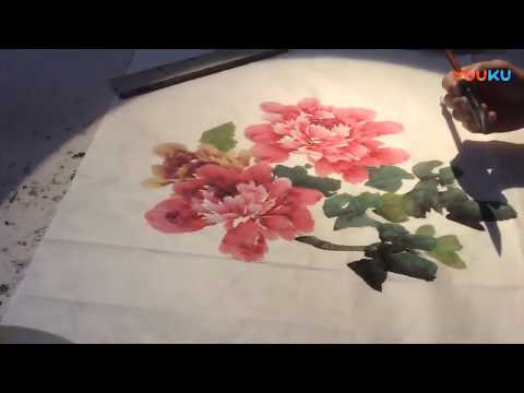 Peonies Paintings in Traditional Chinese Art by Master artist