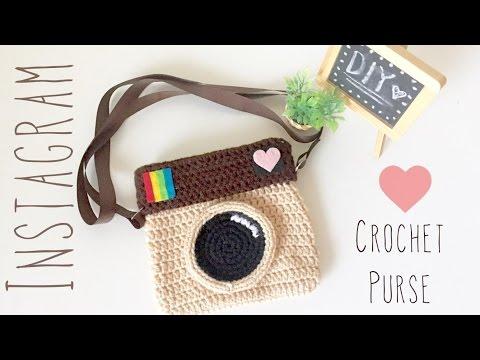 Diy Crochet Instagram Purse Amigurumi Tutorial Youtube