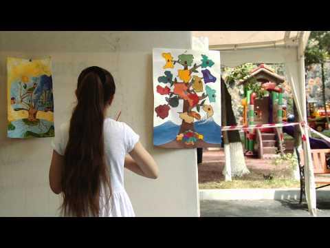 """""""Painting Day"""" at Yerevan Zoo - «Նկարչական օր»  Երևանի կենդանաբանական այգում"""
