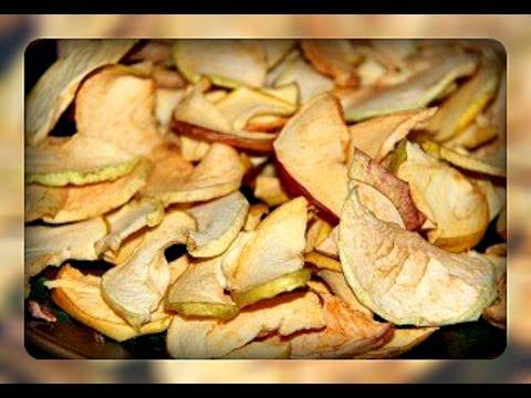 Как засушить яблоки на компот в домашних условиях