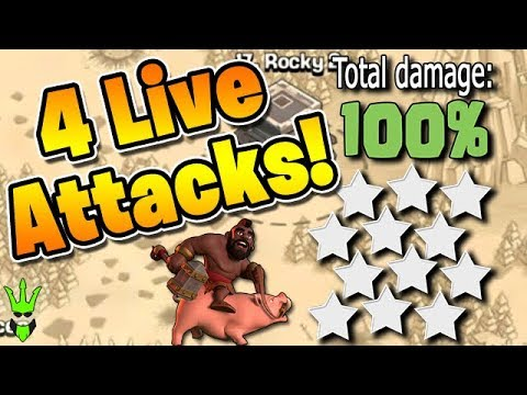 12 Pack War Attacks! - Four 3 Star TH9 Attacks Live! - Clash Of Clans - Live Th9 War Attacks