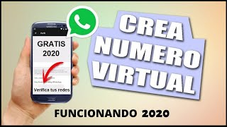 NUMERO VIRTUAL PARA WHATSAPP 2020 | Método FUNCIONANDO | Numero virtual para whatsapp gratis