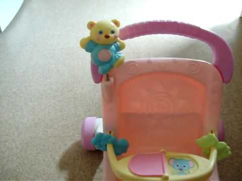 Fisher Price Pink Stroll Along Walker Demonstratioon