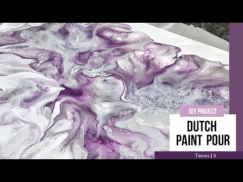 DIY Dutch Paint Pour - Abstract Fluid Art - Wall Decor Ideas
