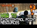 How-to Find Control Point Food/Water/Component Nodes 🞔 No Commentary 🞔 The Division 2