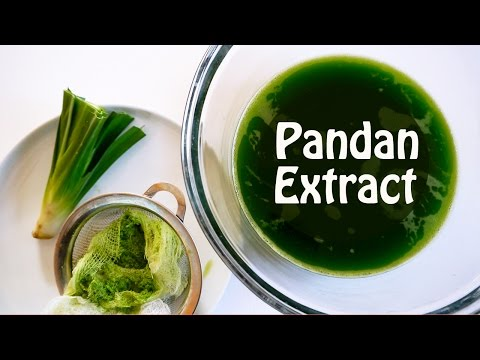How To Make Pandan Extract