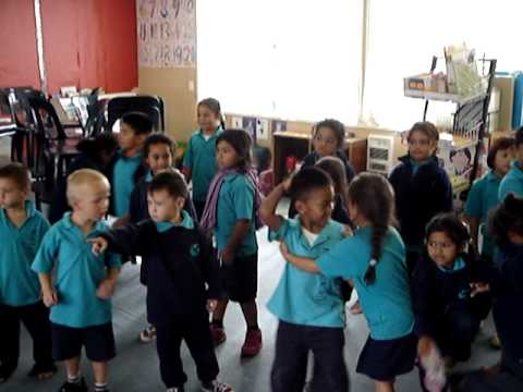 A music lesson for lower primary school children.