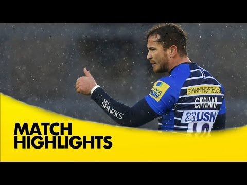 Sale Sharks Vs Newcastle Falcons - Aviva Premiership 2015/16 | Rugby Video Highlights