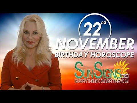 November 22nd Zodiac Horoscope Birthday Personality - Scorpio - Part 1