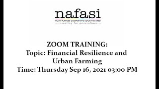Zoom Training. #norahlive. Financial Resilience and Urban Farming. Thursday Sep 16, 2021 03:00 PM.