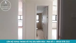 Thiết kế căn hộ Topaz Twins 2 phòng ngủ 82 m2 lầu thấp tại Biên Hòa