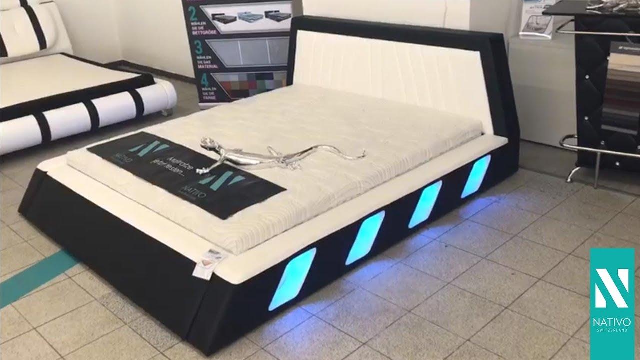 Super NATIVO meubelen Nederland - Gestoffeerd bed LENOX met LED OJ-93