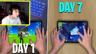 I Trained Like a Pro for a Week in Fortnite Mobile...