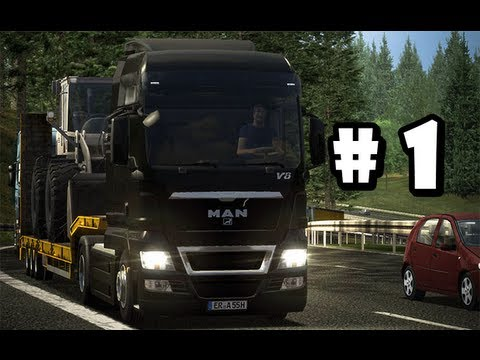 Euro Truck Simulator 2 : Gameplay # 1 - Leipzig to Dresden