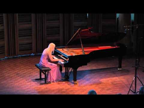 """Maggie Morrison performs Debussy's """"L'isle Joyeuse"""" at Rolston Hall, The Banff Centre"""