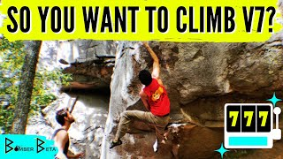 7 Tips to CLIMB Your First V7 in 7 Minutes - Bouldering Tips & Tricks