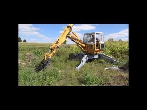 Menzi spider excavator
