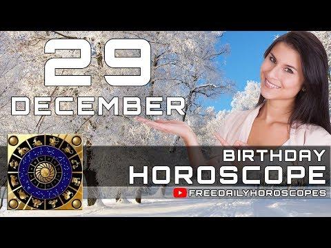 December 29 - Birthday Horoscope Personality