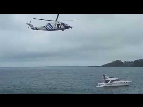 Espectacular simulacro de rescate en Sanxenxo
