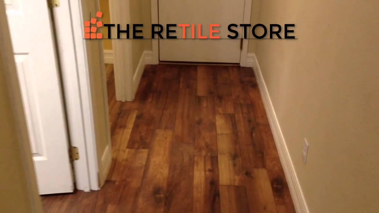 Retile Wood Look Porcelain Tile Installation 6x36
