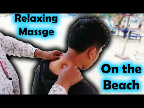 Cambodian Woman Massage - Relaxing Full Body Massage at the Beach | Travel #1