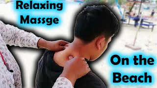 Cambodian Woman Massage #1 - Relaxing Full Body Massage at the Beach