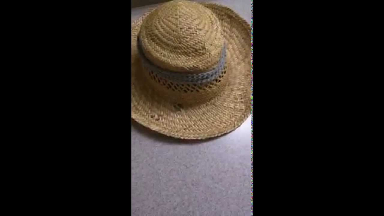 How to make and fix a straw hat
