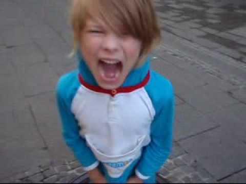 little boy screaming as loud as he can youtube
