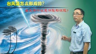 """台风是如何形成的?台风""""山竹""""为啥是涡旋形状的?李永乐老师讲台风眼和地转偏向力"""
