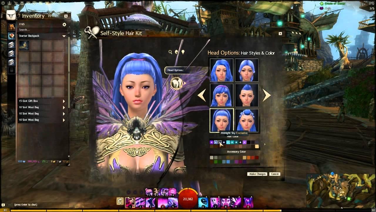 Guild Wars 2 Self Styling Hair Kit Youtube