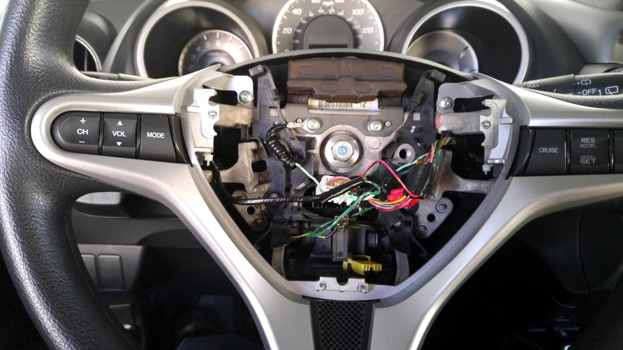 add radio steering wheel controls    honda fit
