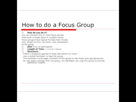 Focus group facilitation youtube focus group facilitation stopboris Choice Image