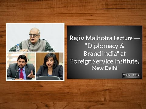 "Lecture on ""Diplomacy and Brand India"" - Foreign Service Institute, New Delhi"