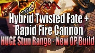 Hybrid TF + Rapid Fire Cannon - HUGE Stun Range - League of Legends