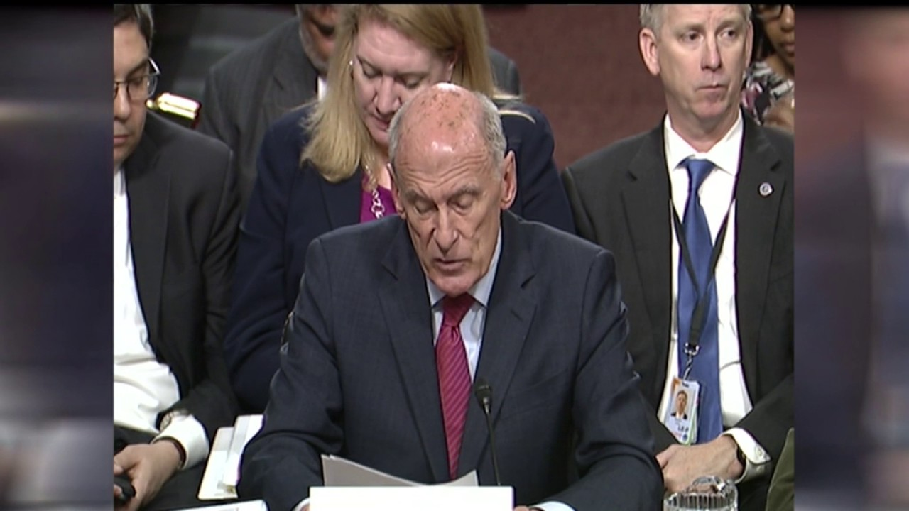 Image result for photos of intelligence chiefs us senate hearing